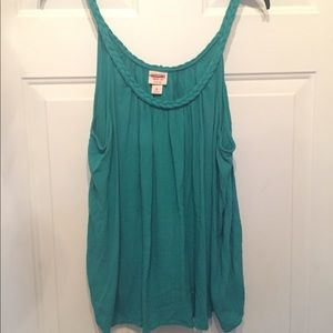 MOSSIMO TEAL BRAIDED TRIM TANK